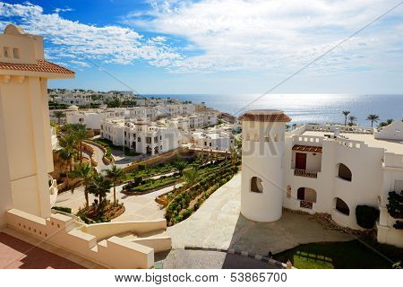 Building Of The Luxury Hotel, Sharm El Sheikh, Egypt