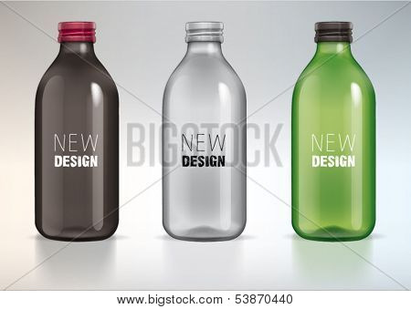 blank glass bottle for new design