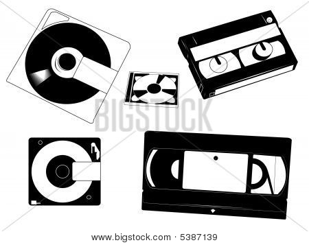 Disks And Cassettes.
