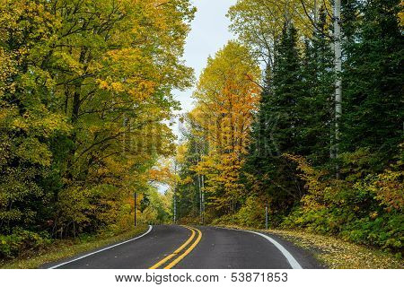 Autumn Road,  Keweenaw Peninsula