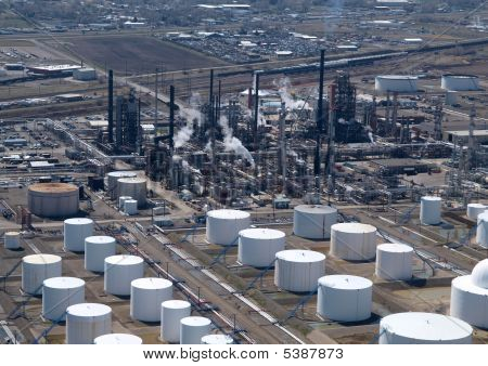 Oil Refinery Aerial