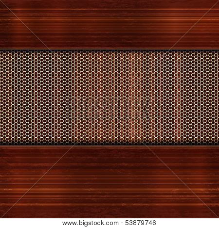background with wooden and reticulated elements.