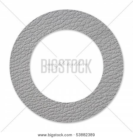 Concept Of Circle With White Leather And Empty Place For Text