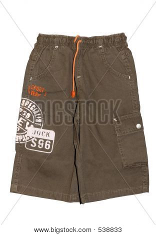 Children Boy Shorts Isolated