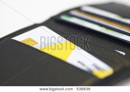 Credit Card In Leather Wallet