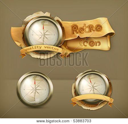 Compass, vector icon