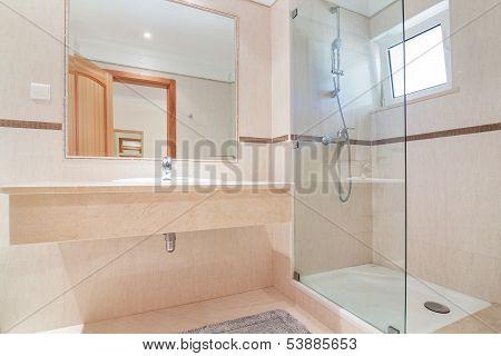 Bathroom In Luxury Hotel.