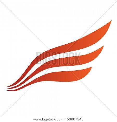 Abstract Bird Wing Icon