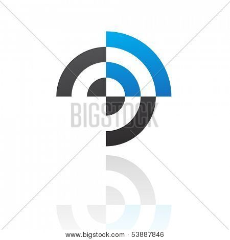 Colorful Abstract Target Icon