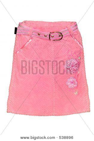 Pink Children Girl Skirt Isolated