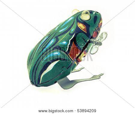 tin toy frog