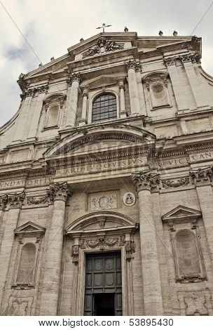 The Church Of St. Ignatius Of Loyola At Campus Martius In Rome, Italy