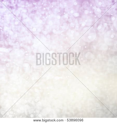 Grunge Gold And Pink Christmas Light Bokeh And Vintage Crystal Background Texture With Glowing Magic