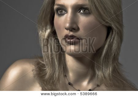 Portrait Of An Attractive Blond Woman
