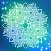 stock photo of boxing day  - Snowflake design for winter holiday card - JPG