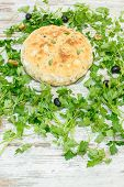 image of dimples  - Homemade focaccia bread - JPG