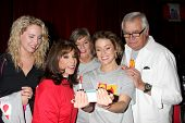 LOS ANGELES - OCT 6:  Molly McCook, Kate Linder, Char Griggs, Linsey Godfrey, John McCook at the Lig