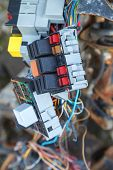 picture of fuse-box  - Close up of the car fuse box - JPG