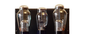picture of rectifier  - image of one vacuum tube amplifier with 300B triodes - JPG