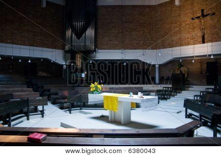 Inside of a modern Church