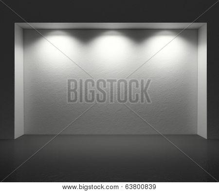 Studio exhibition background to place photograps