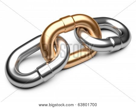 Chain Link Isolated On White Background