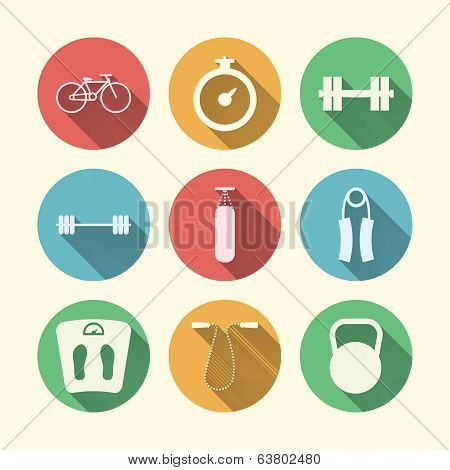 Flat icons for sport