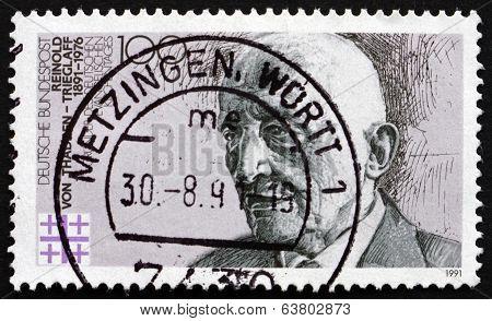 Postage Stamp Germany 1991 Reinold Von Thadden-trieglaff