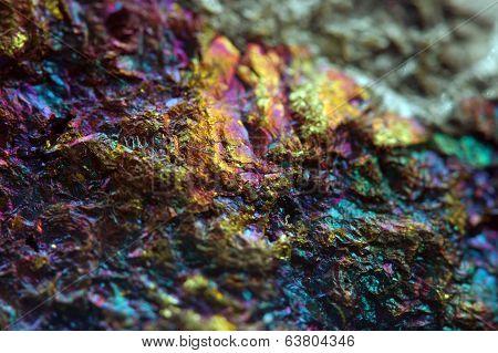 Gold, Bronze, Copper, Iron. Macro. Extreme Closeup