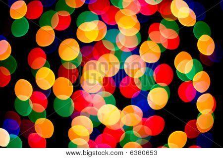 Colored Spots over black