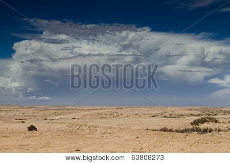Thunderstorm Approaching Over The Desert