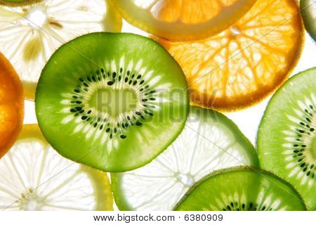 Brighten citrus slices