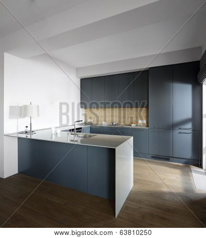 Interior Of Modern European Kitchen