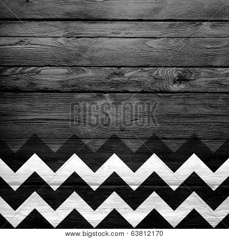 chevron pattern on wood
