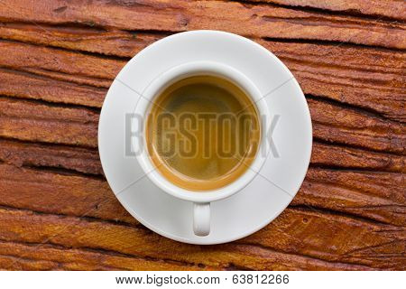 Cup Of Fresh Espresso On Table