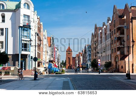 Elblag City, Main Street Of The Old Town