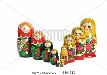 Matreshka Doll Isolated