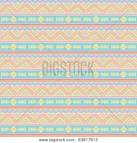 Seamless Tileable Vector Pattern in Pastel Tribal