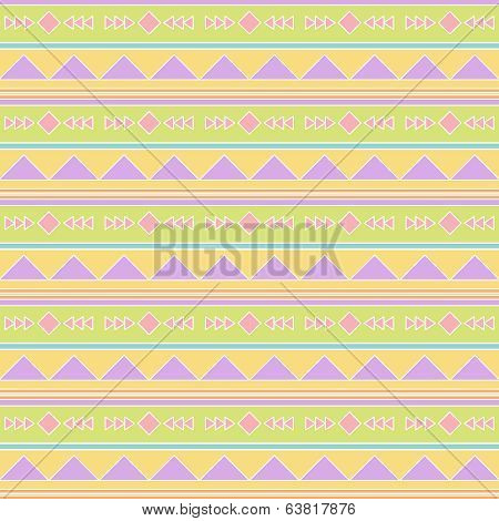 Seamless Tileable Vector Background Pattern in Pastel Tribal