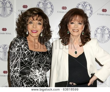LOS ANGELES - APR 22:  Joan Collins, Jackie Collins at the Women's Guild Cedars-Sinai Luncheon at Beverly Hills Hotel on April 22, 2014 in Beverly Hills, CA