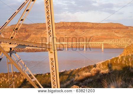 Bridge Over Touchet River Palouse Regoin Eastern Washington Hill Region