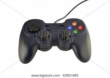 joy stick gaming console on white background