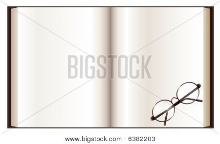 Book And Eyeglass
