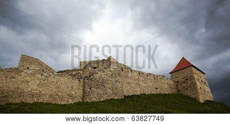 Rupea fortress, Brasov county, Romania. Medieval saxon landmark of Transylvania.