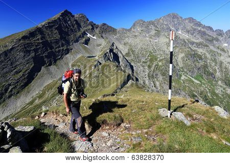 Trekking in the Transylvanian Alps, Romania, Europe