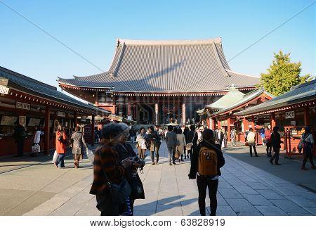 Sakusa, Japan- Nov 21, 2013: Sensoji Temple Is Very Popular Temple In Asakusa