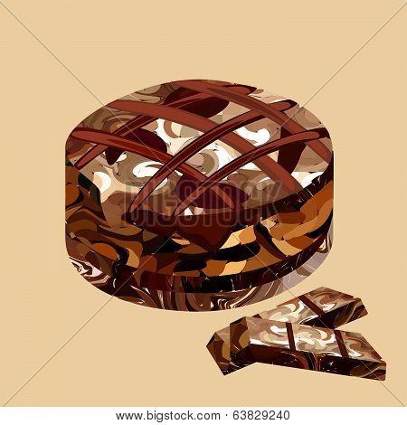 chocolate cake polygon