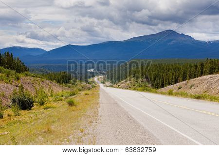 Alaska Highway West Of Watson Lake Yukon Canada