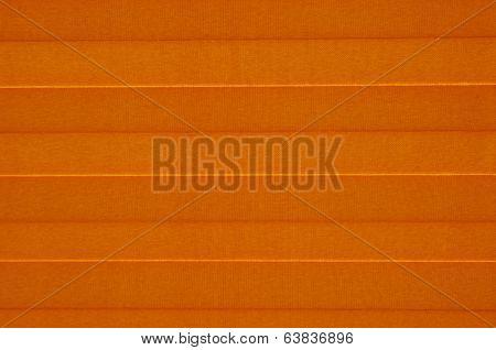 Orange Sun Blind  On Sunny Window