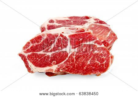 Meat Raw Two Pieces